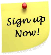 Sign up now post it note
